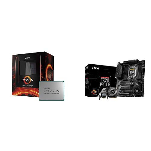 AMD Ryzen Threadripper 3960X Unlocked Desktop Processor with MSI TRX40 PRO 10G Motherboard