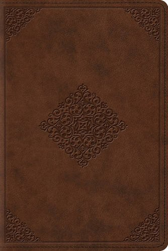 ESV Study Bible, Personal Size (TruTone, Saddle, Ornament Design)