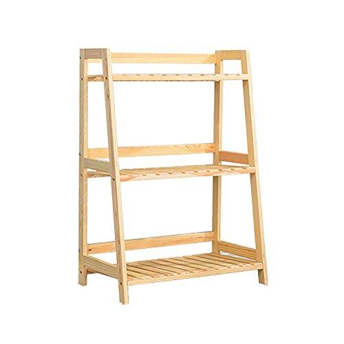 WLM Stand Support De Pot De Fleur De Pin Minimaliste Moderne Support De Stockage Polyvalent Balcon Support De Fleur A+ (Size : 3)