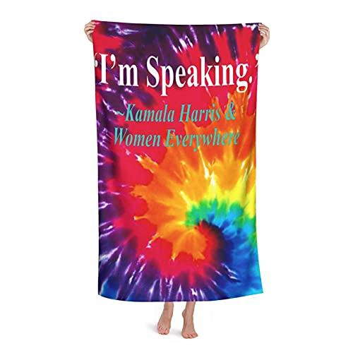 Toalha de praia de microfibra I'm Speaking Kamala Harris and Woman Everywhere Toalhas de banho para adultos, crianças, meninos e meninas