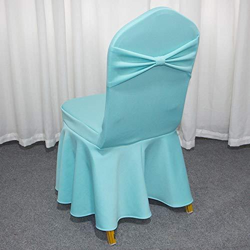 Dikke elastische Air Layer Band knoop Siamese stoel Cover Cover Hotel Restaurant bruiloft banket stoel Cover-ik_2 stuks