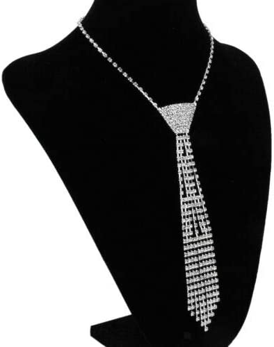 KuierShop(TM) Crystal Diamante Rhinestone Necktie tie Choker Collar Necklace Prom Party