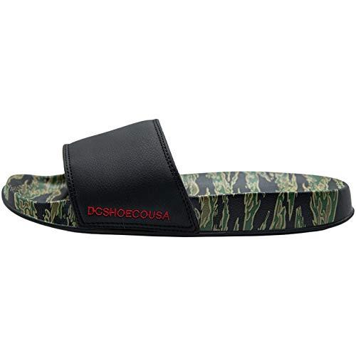 DC Shoes Herren DC Slide SE Badeschuhe, Schwarz (Green/Black Gbk), 39 EU