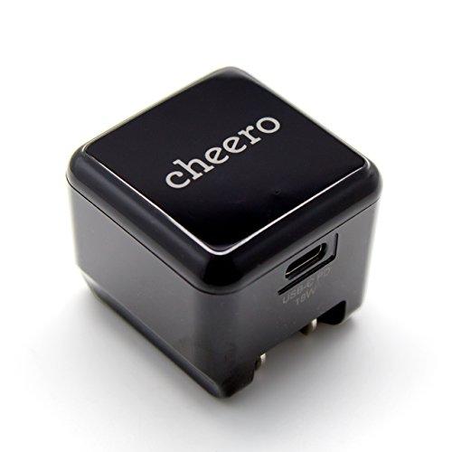 cheero USB-C PD Charger 18W (パワーデリバリー対応 充電器 小型アダプタ) 対応機種へ超高速充電 AUTO-IC...