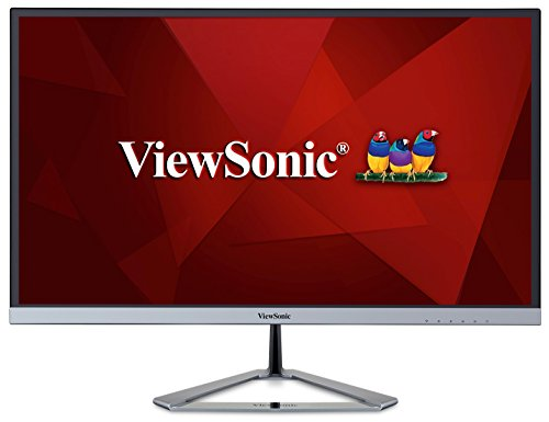 Viewsonic VX2776-SMHD 68,6 cm (27 Zoll) Design Monitor (Full-HD, IPS-Panel, HDMI, DP, Eye-Care, Eco-Mode, Lautsprecher) silber-schwarz