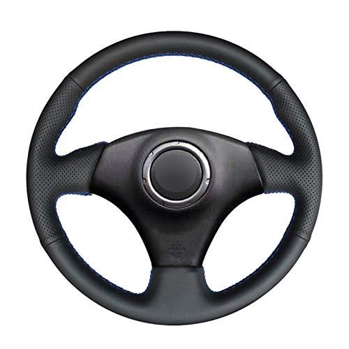 Cubierta Volante Handsewing Black PU Cubiertas de volante de cuero artificiales para Toyota RAV4 Celica Matrix MR2 Supra Voltz Caldina MR-S COROLLA (Color Name : Gray thread)