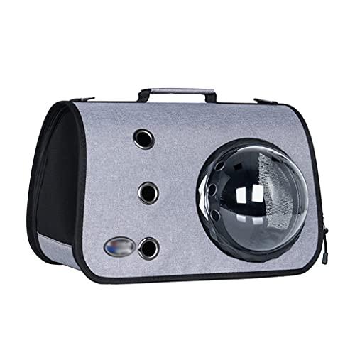 zdz Paquete de la portadora de Mascotas de la cápsula Espacial, la Bolsa de Mascotas de una Gran Capacidad Limpia, para Aquellos Que Tienen Mascotas, Necesitan Salir con Mascotas (Color : Light Gray)