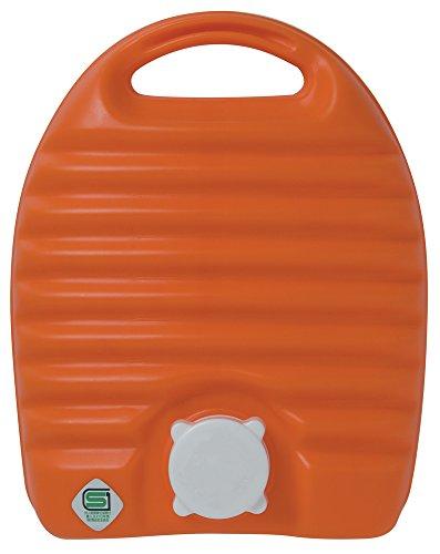 タンゲ化学工業 湯たんぽ 立つ湯たんぽ オレンジ 2.6L 日本製 袋付き