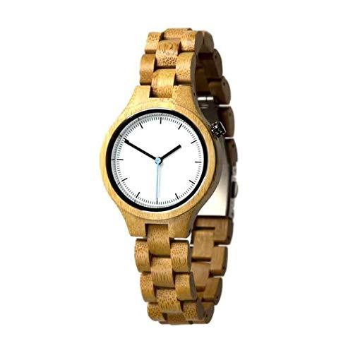Reloj de Madera Tundra   Bambú   35 mm  