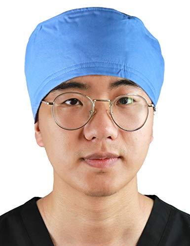 JONATHAN UNIFORM Unisex Working Cap Hat One Size with Sweatband Adjustable Tie (Sky Blue)