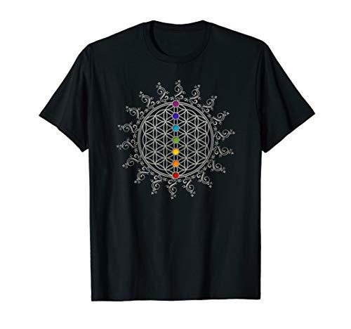 Blume des Lebens Flower of Life Sacred Geometry Yoga T-shirt