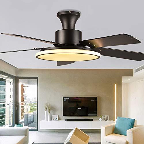 JINKEBIN Ventilador de la lámpara de techo Lámpara de ventiladores de 220V con control remoto de atenuación de 56 pulgadas de ventilador de techo de 56 pulgadas para el dormitorio para el hogar Sala d