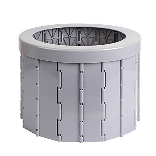 【monluxe】 折り畳みトイレ 非常用 持ち運びトイレ 収納袋付き 災害用 携帯トイレ 洗える 簡易トイレ 防災グッズ 排泄処理袋 凝固剤 12セット付 (グレー/スタンダード)