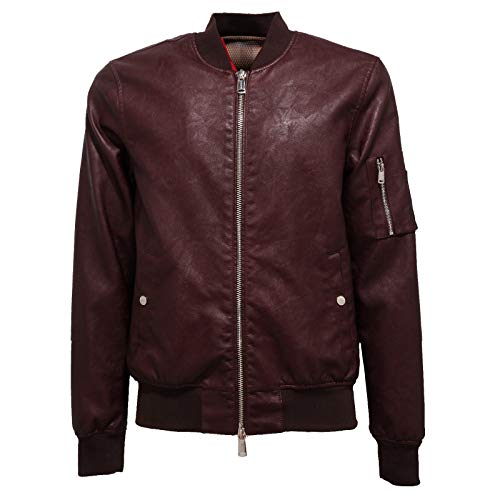 FREEDOMDAY 4649J Giubbotto Uomo Bomber Brown eco-Leather Jacket Man [S]