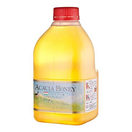 [熊手のはちみつ] ハンガリー産 アカシアはちみつ 純粋蜂蜜 ( ポリ 2kg / 大容量 ) 無添加 100%純粋