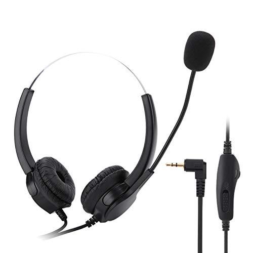 FOLOSAFENAR Auriculares Teléfono Función de Silencio de Auriculares, para comunicación, para teléfono móvil, para macrófono