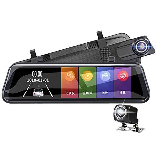 TL Dash cam, 10-Zoll-Streaming-Media-Rückspiegel-Recorder Vollbild-HD 1296P Nachtsicht fährt Bild Umkehren für Pkw-Nutzung