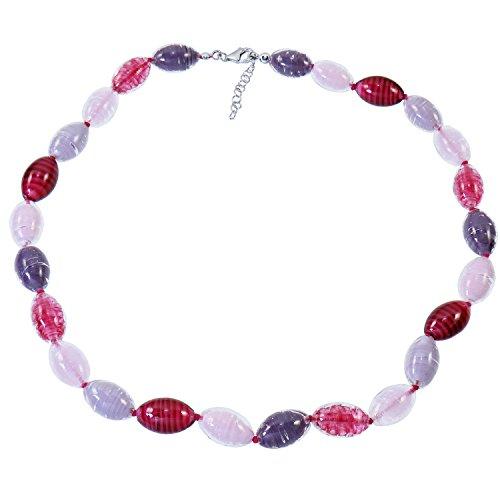 Alexander estrellas Murano Star objetos de cristal de Murano señorías-collar rojo de plata 925 rhodiniert LILA