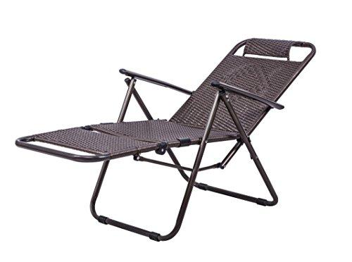 Accueil Extérieur Chaise longue Chaises pliantes Pause déjeuner Chaises Canapé Fauteuil de plage Fauteuil Chaises en rotin Chaise longue (Couleur : B)