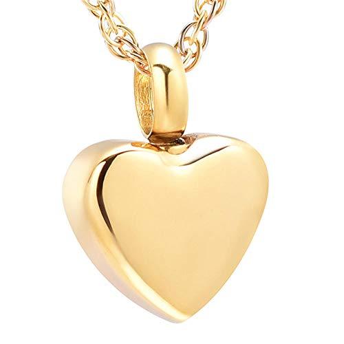TNBKDSE Mini joyería de cremación de corazón para Ceniza Colgante urna Collar 13 mm Acero Inoxidable Amor Recuerdo Recuerdo joyería - Grabado