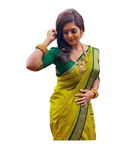 Kabir Fabrics Women's vasttram Shubh Kanchipuram Silk kanchi Pattu Saree with Blouse...