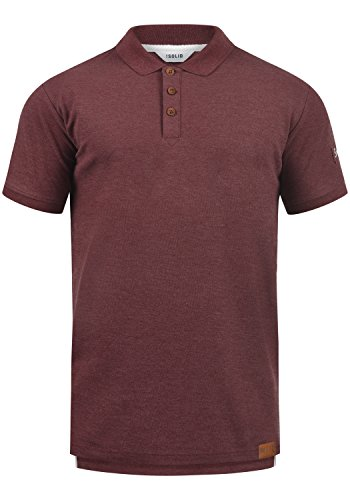 !Solid TripPolo Herren Poloshirt Polohemd T-Shirt Shirt Mit Polokragen, Größe:L, Farbe:Wine Red Melange (8985)