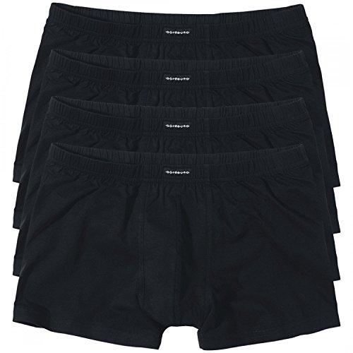 4 GÖTZBURG Basic enganliegende Boxershorts Pant Boxer Herren , Grösse:XXXL - 9 - 58;Farbe:schwarz