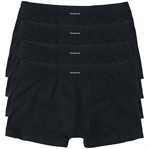 4 GÖTZBURG Basic enganliegende Boxershorts Pant Boxer Herren , Grösse:XL - 7 - 54;Farbe:schwarz