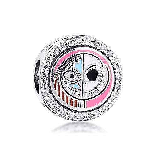 FUNSHOPP Breloque en argent 925 pour bracelets Pandora originaux Motif L'Étrange Noël de Monsieur Jack 2020