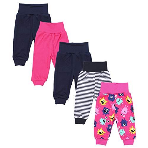 TupTam Unisex Baby Pumphose 5er Pack, Farbe: Mädchen 9, Größe: 56