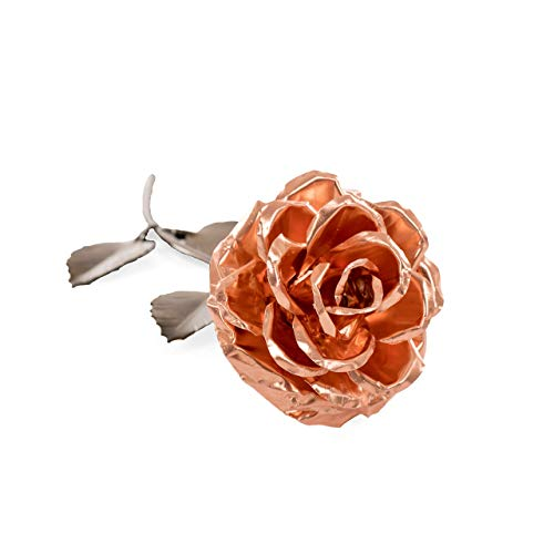 Personalized Gift Hand-Forged Copper Metal Rose - 7th Anniversary Gift