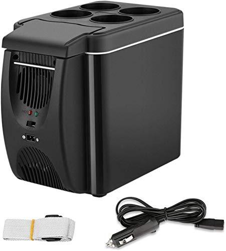 Bounabay 12 V Frigorífico congelador calefacción con correa extraíble 6L Mini Auto...