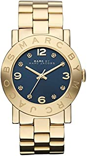 Marc By Marc Jacobs Women's Blue Dial Stainless Steel Band Watch - Mbm3166, Analog Display, Quartz Movement