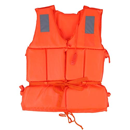 HWZZ Chaleco De Snorkel Unisex Chaleco Salvavidas Kayak Inflable Portátil Canoa Buceo Deportes Acuáticos para Adultos, Mujeres, Hombres,Naranja,50cm*40cm
