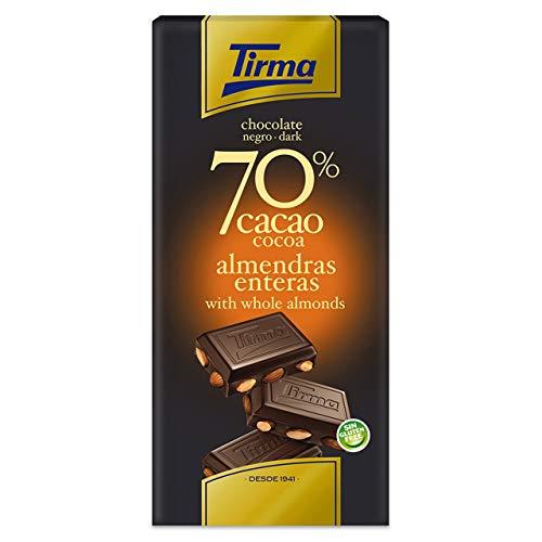 Tirma Chocolate Negro 70% Cacao Con Almendras Enteras - 125 g