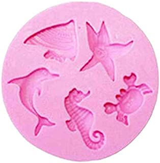 Ocean Dolphin Sea Animals Silicone Chocolate Mold Cake Cookie Mould Mermaid Seahorse Crab Cake Decorating Tools