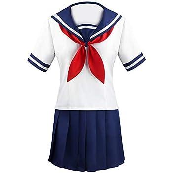 Yandere Simulator Ayano Aishi Yandere Chan Cosplay Costume Japanese School Girls JK Uniform Sailor Pleated Skirt  XX-Large