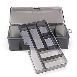 Boîte À Outils Boîte à outils de stockage multifonctionnelle à double couche Multifonctionnel Organiser des vis de pêche…