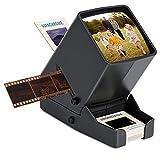 Visionneuse Diapositives et Négatives de 35 mm, LED Visionneuse de Bureau Portable à Grossissement 3X, pour NéGatifs de Film Positifs