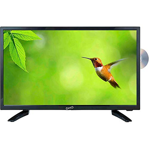 SuperSonic 1080p LED Widescreen HDTV with HDMI Input, AC/DC Compatible for RVs and Built-in DVD...