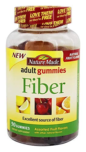 Nature Made Adult Gummies Fiber Assorted Fruit - 90 Gummies