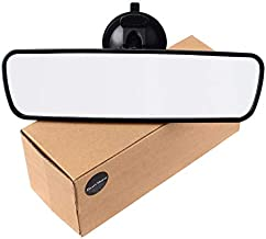 Rear View Mirror, Universal Car Truck Mirror Interior RearView Mirror Suction Cup (Width 24.5cm/9.6in)
