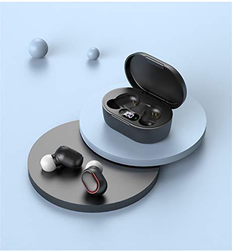 DRTSE Audifonos Bluetooth inalambricos,E7S Bluetooth 5.0 Sonido Estéreo Auricular,Moda Mini Auri ulares Bluetooth inalámbricos Carga Rapida Resistente al Agua