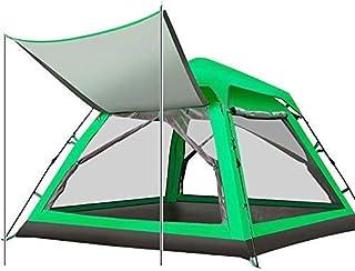 3-4人自動キャンプテント防水サンシェルタータープ屋外シェードキャノピービーチパーティーピクニック家族休暇登山