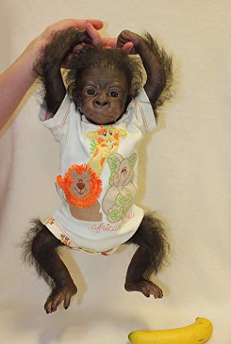 """17/"""" Kit DIY Painted Rooted Chaz Chimpanzee"""