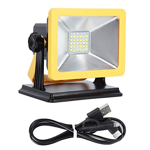 30W LED Luces de JardíN, USB Recargable Luz de InundacióN, PortáTil Impermeable Luces de Emergencia para Garajes/CéSpedes/Acampar al Aire Libre, 3 Modos de Luz