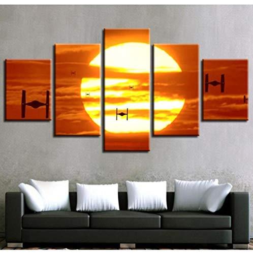 Wangjingjing1 canvasschilderij, film, drone, kantoor, canvas, wand, kunst, voor woonkamer, slaapkamer, decoratie, huis, modern, decoratie 20X35/45/55CM Met frame