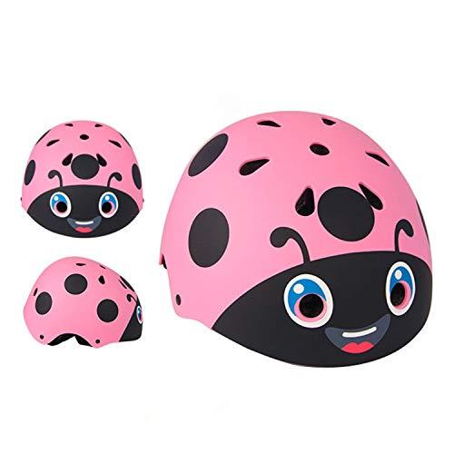 FitTrek Kinder Fahrradhelm - 48 bis 53 cm Einstellbar MTB Helm - Jungen Mädchen Radhelm Skatehelm - Helmet for Bike Cycle Ski Skateboard REIT BMX 2-5 Jahre Kind