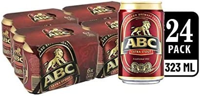 ABC Extra Stout Beer Can, 323ml (Pack of 24)