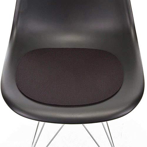 Hey Sign Sitzauflage schwarz mit Antirutsch für Eames Plastic Side Chair